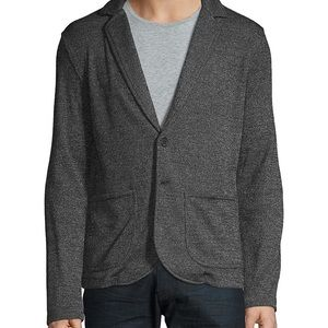 Black Brown 1826 Grey Notch Lapel Knit Blazer